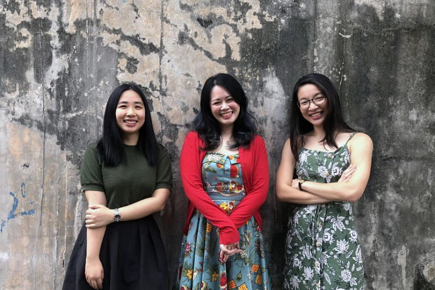 The Difference Engine team: (From left) editor Sophia Susanto, publisher Felicia Low-Jimenez and marketing manager Josephine Tan.