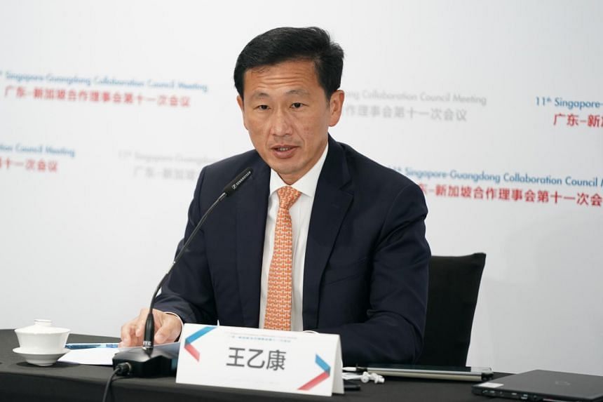Besides financial services, Singapore Transport Minister Ong Ye Kung also called for more talent exchanges between Singapore and Guangdong.