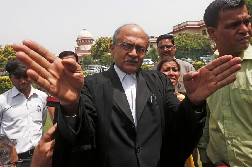 Lawyer Prashant Bhushan was found guilty of criminal contempt.