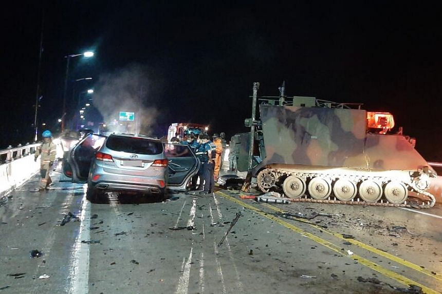 All four people in the SUV died, while one US soldier suffered light injuries and was sent to the hospital.