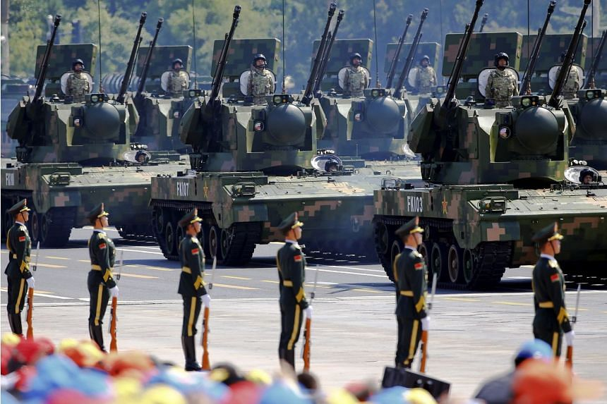 A 2015 photo shows a military event in China marking the 70th anniversary of the end of World War II.