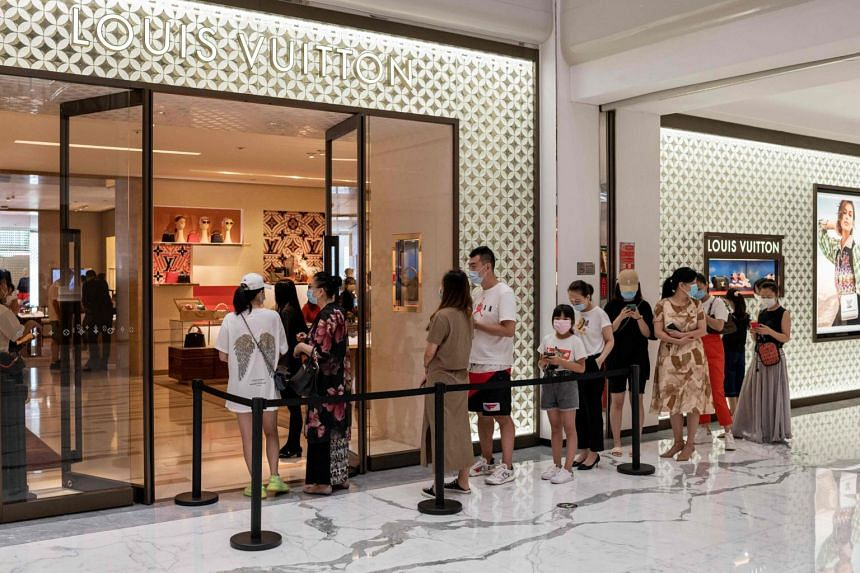 LVMH's China sales last quarter rose 65 per cent from a year ago while overall group revenue dropped 38 per cent.
