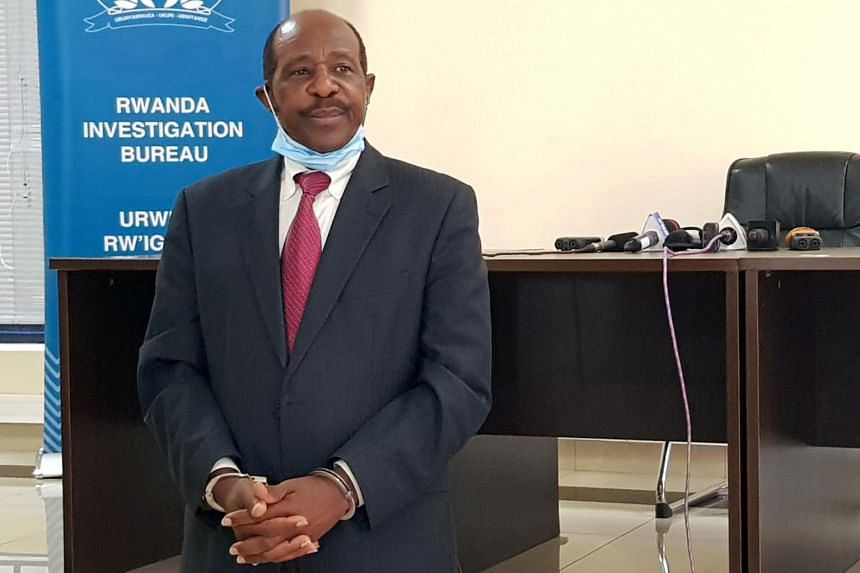 Rwandan police said that Paul Rusesabagina had been arrested on terrorism charges on an international warrant.