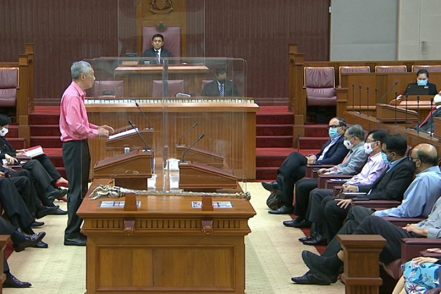 PM Lee speaking in Parliament on Sept 2, 2020.