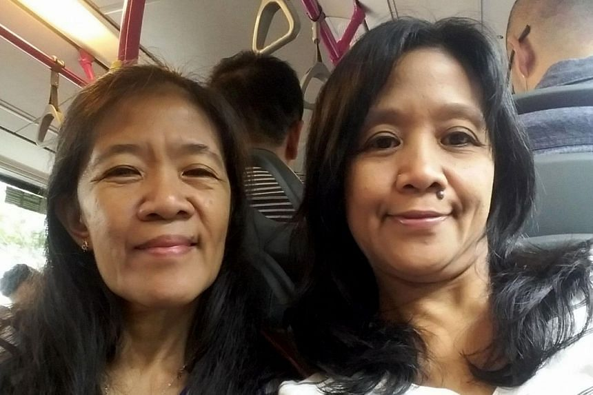 Sisters Arceli (left) and Arlyn Nucos were among six Filipino victims in the car crash at Lucky Plaza on Dec 29, 2019. Ms Arlyn Nucos later died from her injuries at Tan Tock Seng Hospital.