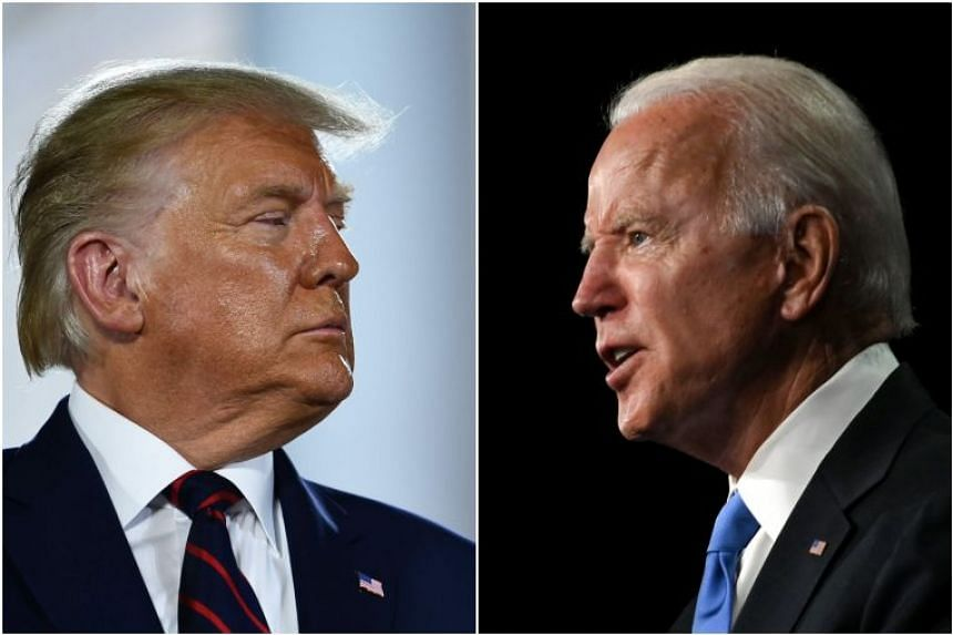 The bets in part aided Donald Trump (left) to take the lead, after being neck-and-neck with Joe Biden.