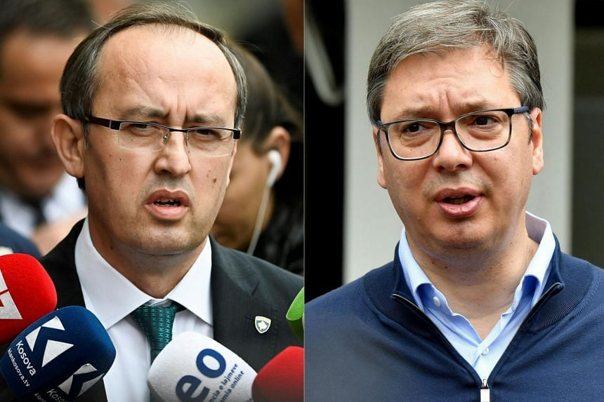 Kosovo Prime Minister Avdullah Hoti (left) and Serbian President Aleksandar Vucic will be meeting at the White House on Sept 3 and 4, 2020.