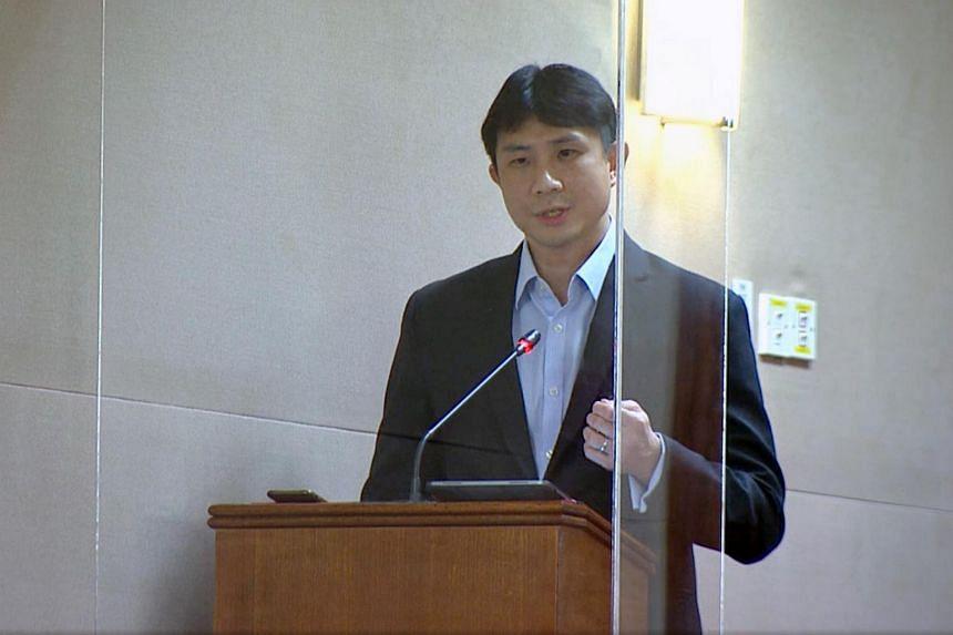 Sengkang GRC MP Jamus Lim speaking in Parliament on Sept 3, 2020.