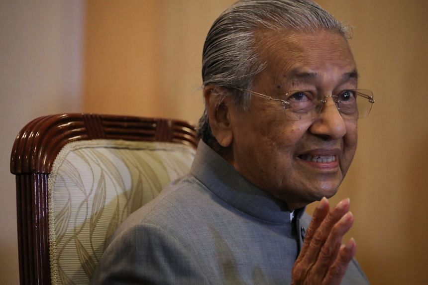 Former Malaysian PM Mahathir Mohamad speaking at a news conference in Putrajaya on Sept 3, 2020.