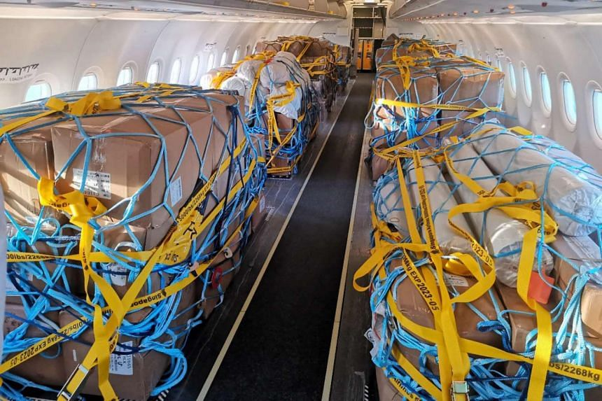 Scoot removed the passenger seats from one of its Airbus SE A320s in August to free up more space.