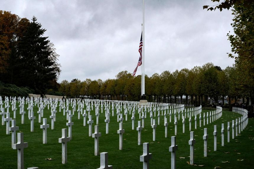 """Mr Donald Trump had referred to marines buried in an American cemetery near Paris as """"losers"""" and declined to visit in 2018."""