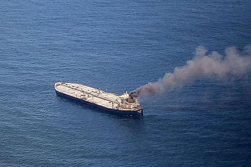 Panamanian-registered crude oil tanker MT New Diamond reported a fire inside the engine room.