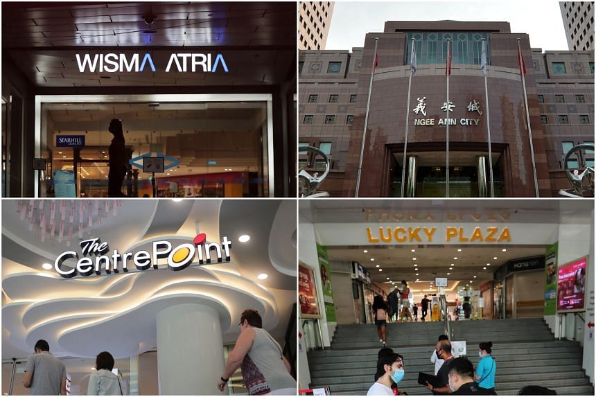 Centrepoint, Wisma Atria, Ngee Ann City and Lucky Plaza are among places visited by Covid-19 patients.