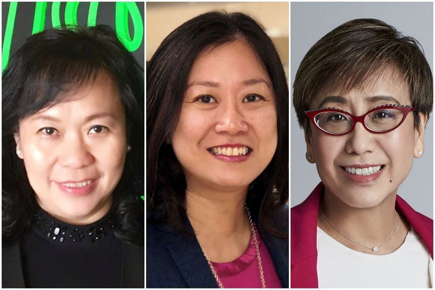 (From left) Razer chief of staff Patricia Liu, NTU associate professor of bioengineering Sierin Lim and ComfortDelGro chief technology officer Siew Yim Cheng were among the women on the inaugural Singapore 100 Women in Tech list.