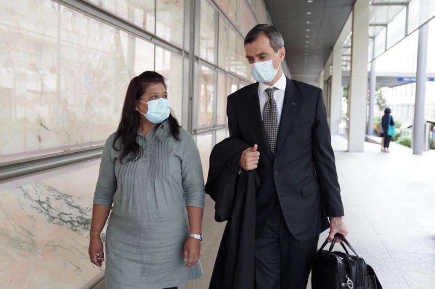 Miss Parti Liyani with her lawyer Anil Balchandani. Miss Parti had appealed to the High Court against her conviction and sentence of two years and two months' jail.
