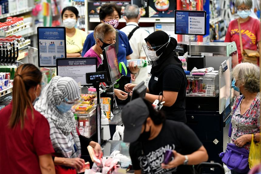 Sales at supermarkets and hypermarkets surged by 28.6 per cent year on year.