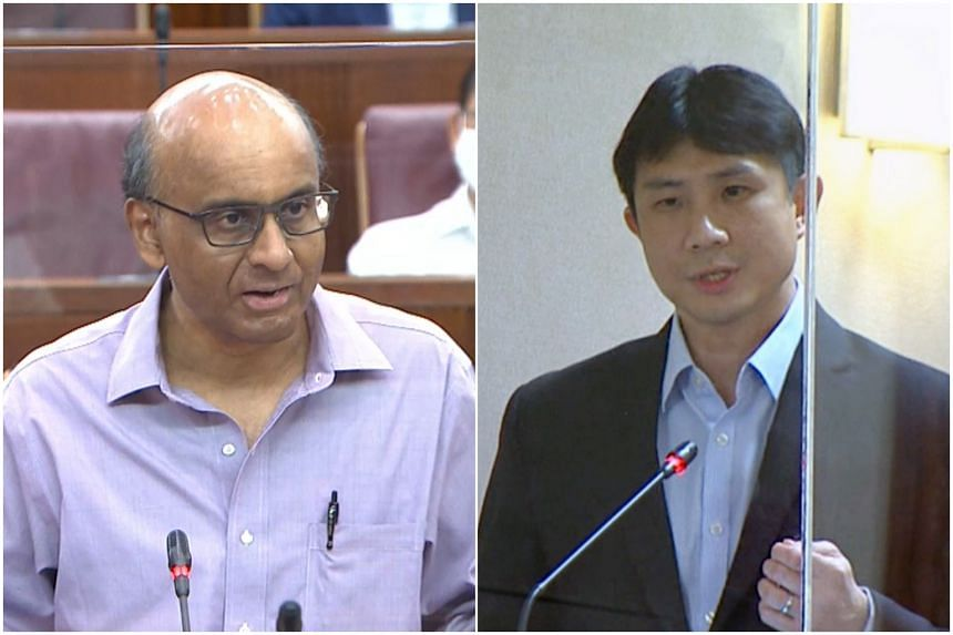 """Minister Tharman Shanmugaratnam said he """"would not exaggerate"""" the differences between the minimum wage model advocated by Professor Jamus Lim and the Progressive Wage Model."""