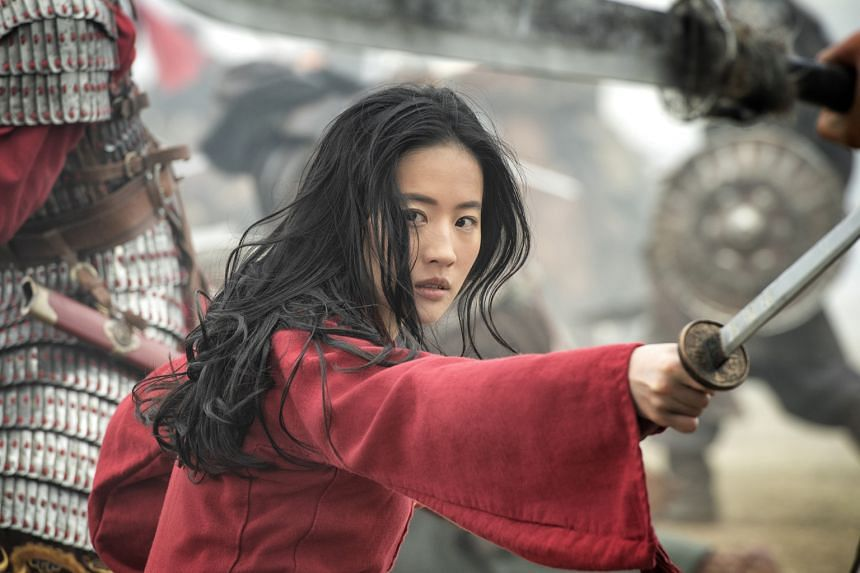 The spirited Mulan is played by Liu Yifei (above).