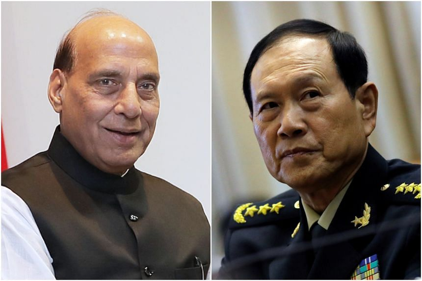 """Arrangements for a meeting between China's Wei Fenghe and India's Rajnath Singh """"has made progress""""."""