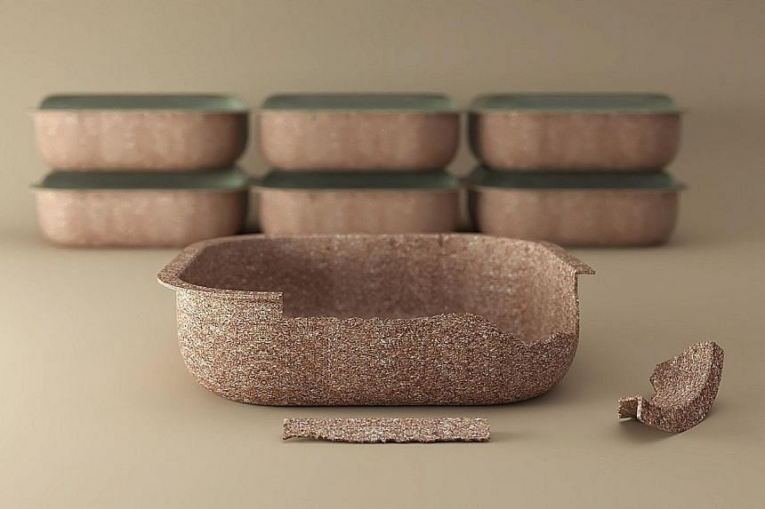 Singapore-based multidisciplinary design practice Forest & Whale has created a salad bowl container (above) made from water-soluble and compostable materials that is reusable and reduces reliance on non-biodegradable plastics.