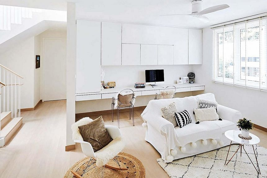 The seating options vary and add a different feel to each space, such as outdoor furniture for a rustic touch and a cosy couch to chill out on (above), as well as a sleek sofa paired with a daybed for a contemporary yet inviting vibe.