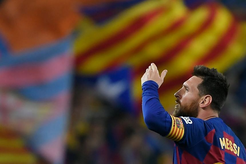 Messi (above) did not want to enter a court battle with the club about his contract.