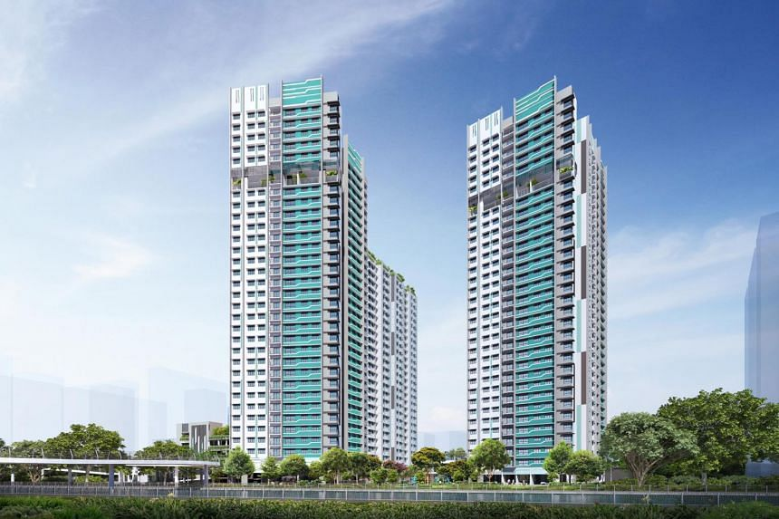 Artist's impression of HDB's Bishan Towers Build-To-Order development.