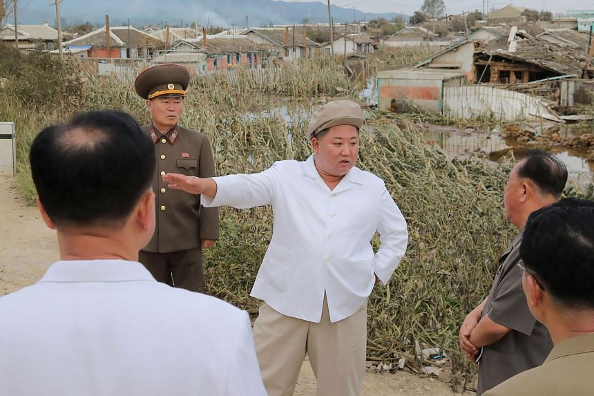 Mr Kim Jong Un inspected the damage on Sept 5, 2020, and held a policy meeting on disaster relief efforts.