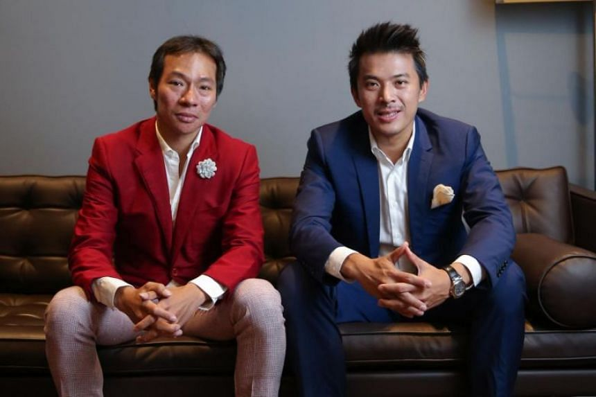 Axington's controlling shareholders are cousins Terence Loh (left) and Nelson Loh.