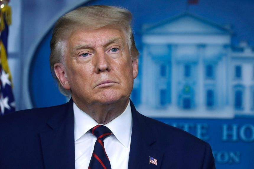 US President Donald Trump listens to a question during a news conference at the White House on Sept 4, 2020.