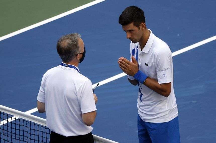 Tennis Novak Djokovic Disqualification At Us Open Ends Big Three Reign Over Grand Slams Tennis News Top Stories The Straits Times