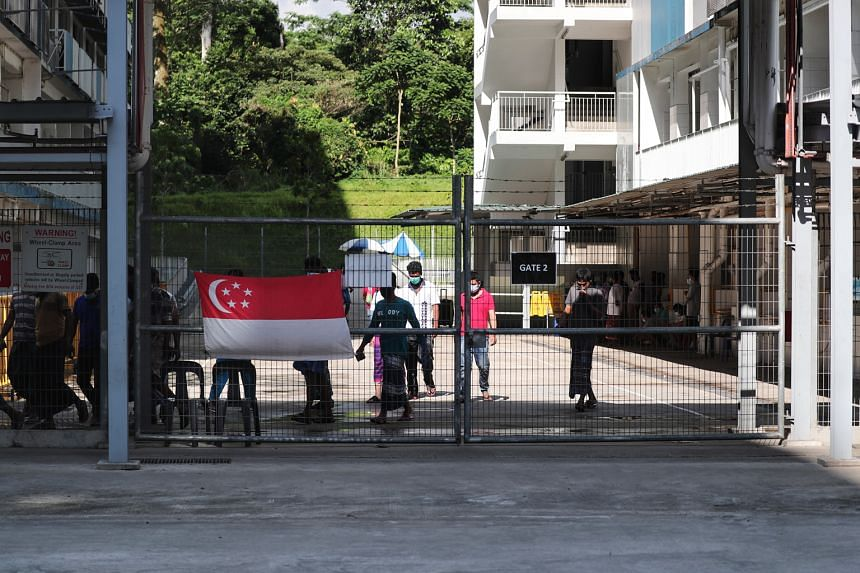 On the weekend of Aug 22, two Covid-19 clusters were detected in Sungei Tengah Lodge (below) and Homestay Lodge in Kaki Bukit, putting the brakes on some projects that had only recently resumed work.