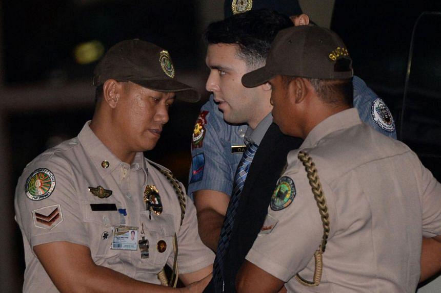 US serviceman Joseph Scott Pemberton is seen at Camp Aguinaldo in Quezon City, Philippines, on Dec 1, 2015.