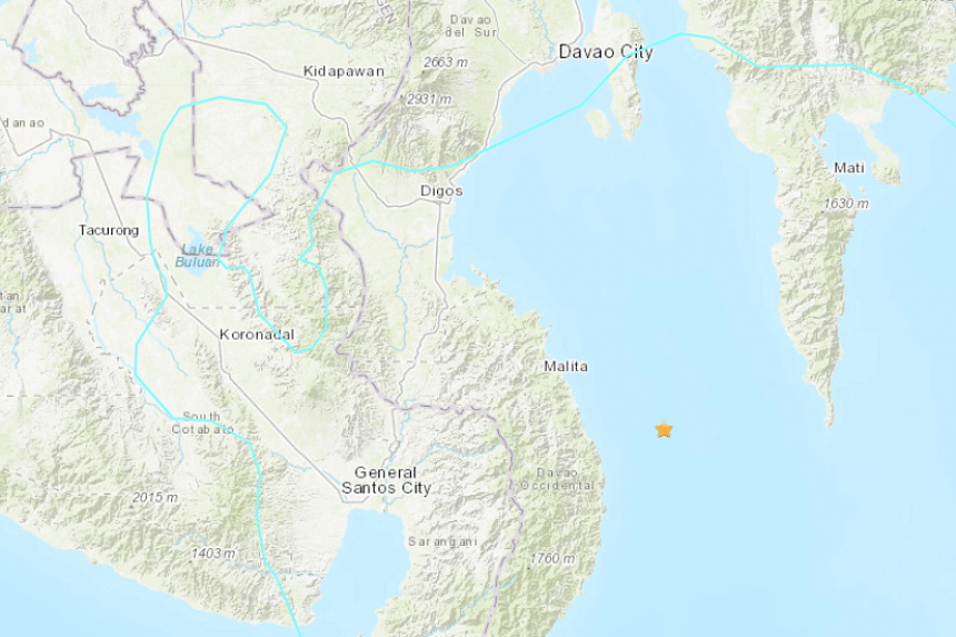 The quake was also felt in the cities of General Santos and some other nearby towns.