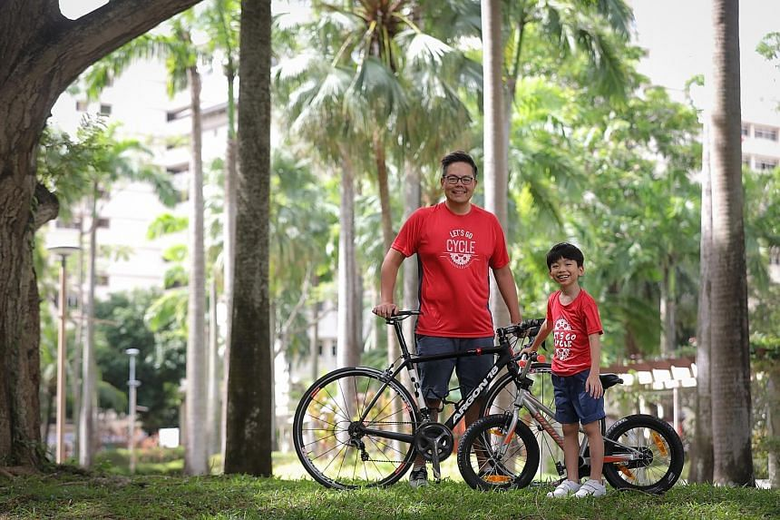 Regional sales director Dennis Tan, 39, and his son, who is in Primary 1, will be among 4,700 cyclists in the sold-out OCBC Cycle Virtual Ride from Nov 1-15. Like the duo, nearly 70 per cent of the participants are signing up for the first time.