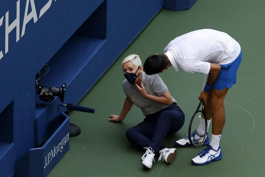 Tennis Novak Djokovic Urges Angry Fanbase Not To Turn On Us Open Line Judge He Hit Accidentally Tennis News Top Stories The Straits Times
