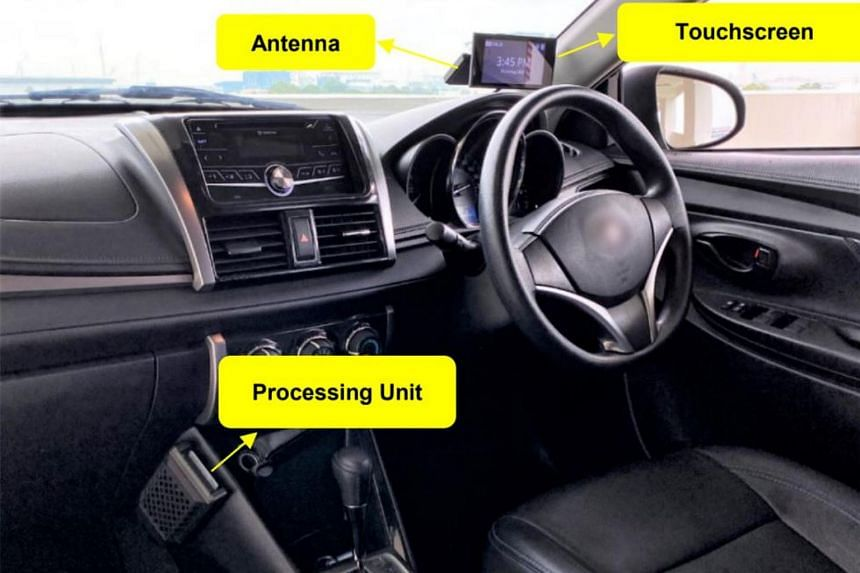 The new onboard unit for cars will come in a three-piece unit, comprising an antenna, a touchscreen display and a processing unit.