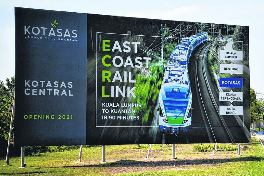 The government revived the 640km East Coast Rail Link in 2019 with a budget cut.