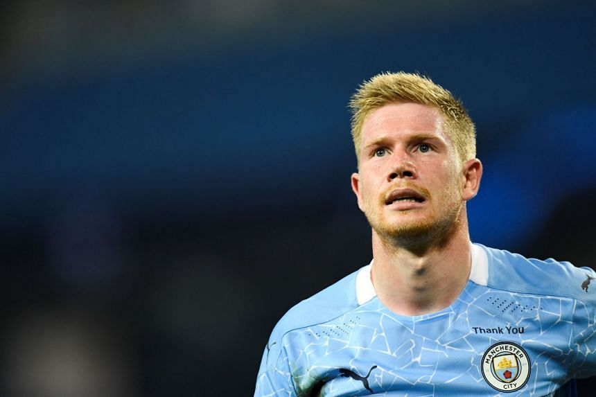 De Bruyne (above) registered 13 goals and a record-equalling 20 assists for City in the 2019/20 Premier League season.