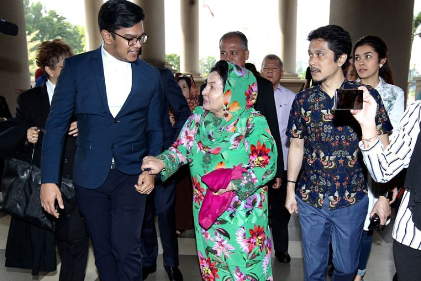 A photo taken on Feb 5 shows Rosmah Mansor, wife of former Malaysian prime minister Najib Razak, arriving for her graft trial at the Kuala Lumpur Courts Complex.