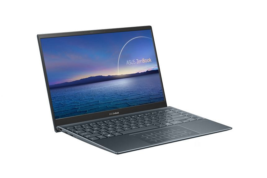 Asus' ZenBook 14 comes in two versions - the UX425 (above) uses the 10th-generation Intel processors, while the UM425 is powered by AMD's Ryzen 4000-series chips