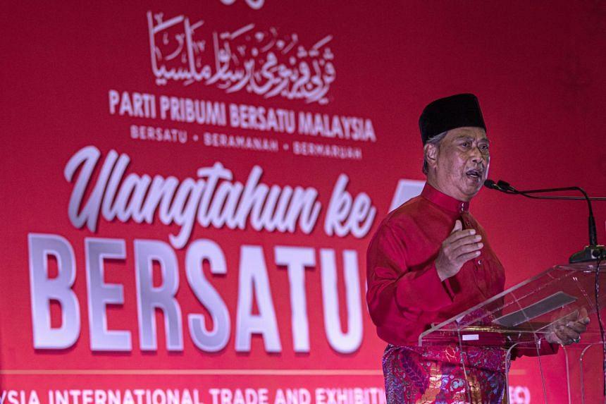 Tan Sri Muhyiddin's (above) Parti Pribumi Bersatu Malaysia has put up Hajiji Noor as its candidate to lead the state government.