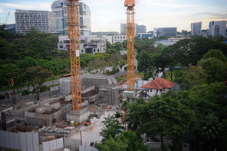 Construction work going on at Rochester Commons, Singapore's first campus-styled integrated development, on Sept 9, 2020.