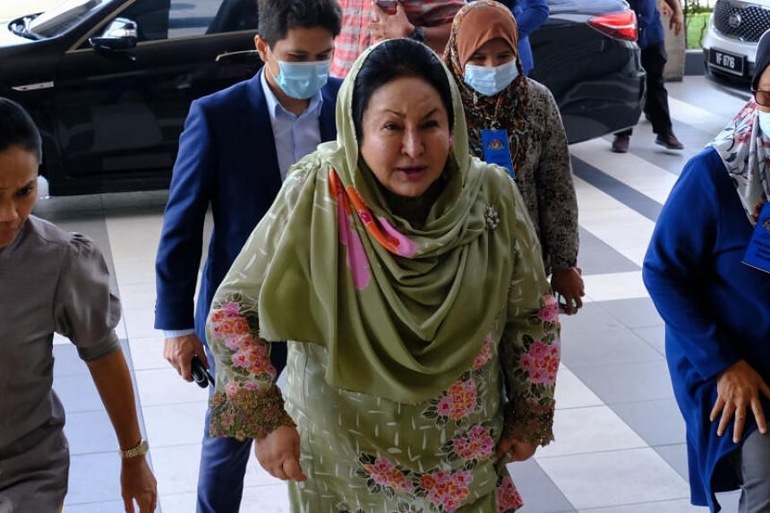 Rosmah Mansor, wife of former Malaysian prime minister Najib Razak, arriving at the Kuala Lumpur Courts Complex on Sept 9, 2020.