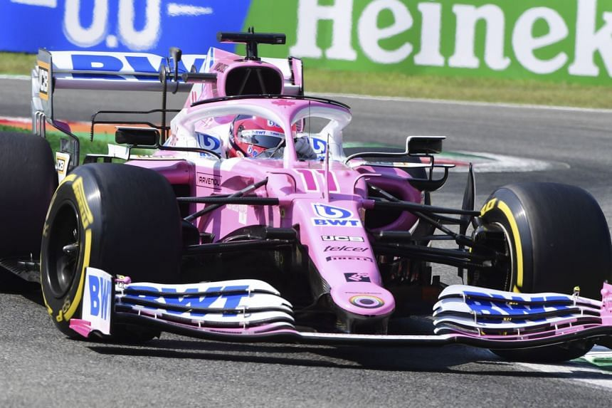 Perez in action during the practice sessions ahead of the Italian Grand Prix.