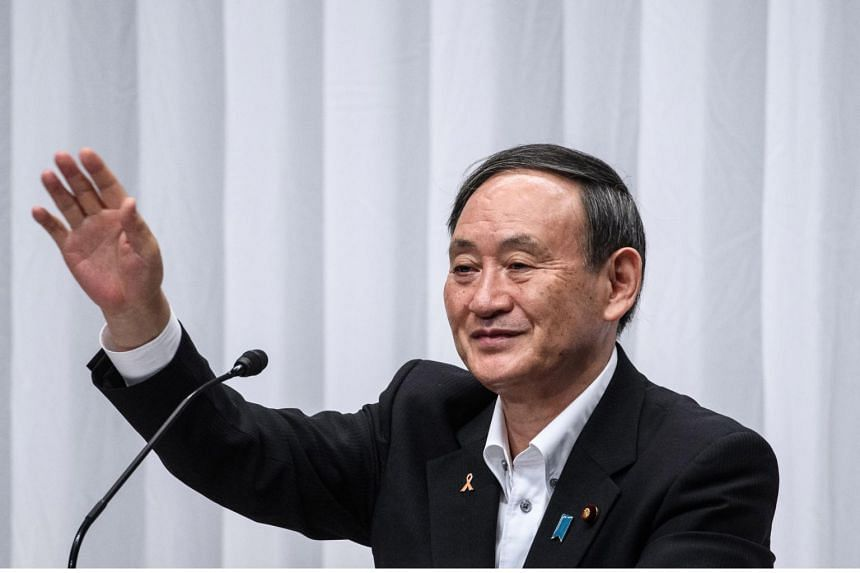 About 44 per cent of respondents said they would choose Japanese government spokesman Yoshihide Suga.