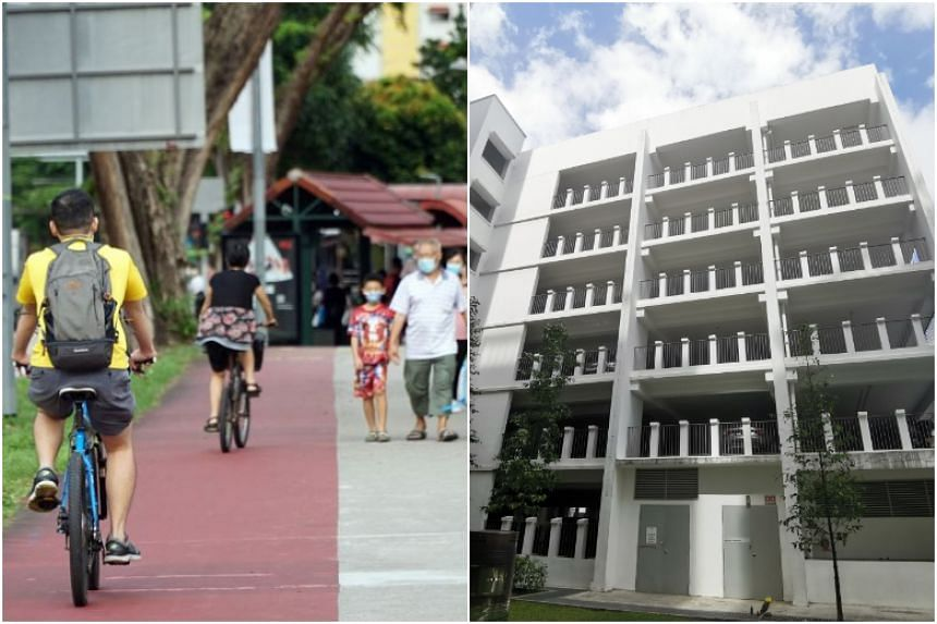 The review comes after a girl who was riding a fixed-gear bike fell to her death at a multi-storey carpark in Pasir Ris (right) in January.