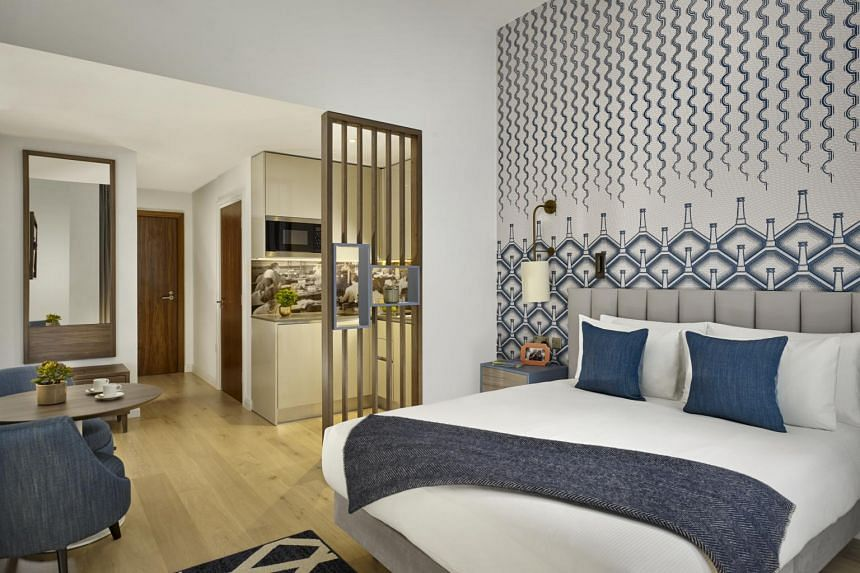 The serviced residence is housed in an Edwardian building that was once a Royal Mail Sorting Office.