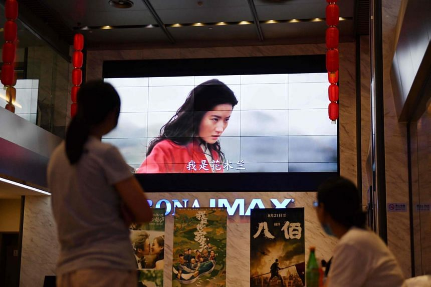 Partly shot in Xinjiang, Mulan's credits included thanks to the authorities there, which prompted calls overseas for a boycott of the movie.