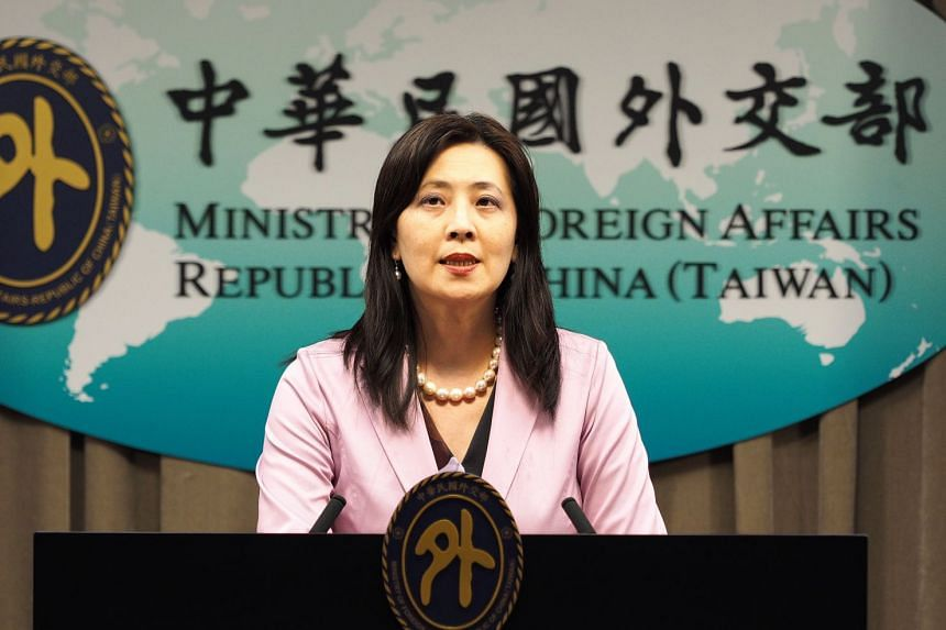 Taiwan Foreign Ministry spokeswoman Joanne Ou holds a news conference over the incident in Taipei, Sept 10, 2020.